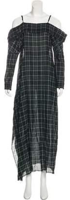 R 13 Plaid Maxi Dress