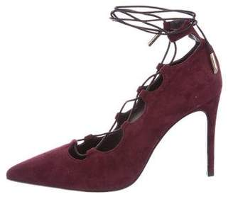 Barneys New York Barney's New York Suede Pointed-Toe Pumps