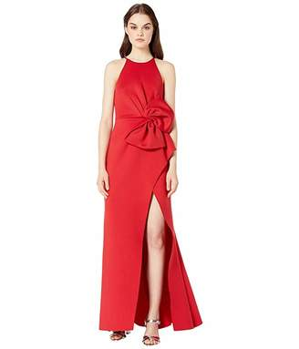 Badgley Mischka Side Bow Gown