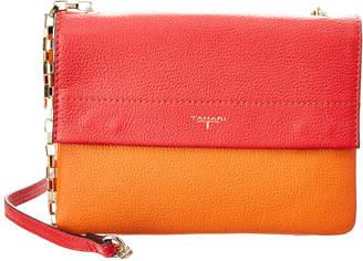 T Tahari Claire Leather Flap Crossbody
