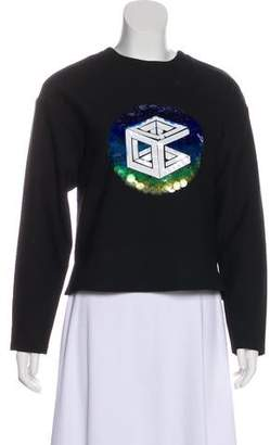 Opening Ceremony Sequined Long Sleeve Top