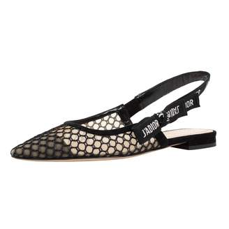 Christian Dior Black Cloth Flats