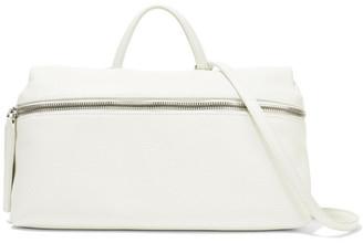 Kara - Satchel Textured-leather Shoulder Bag - White $525 thestylecure.com