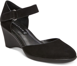 STEVEN By Steve Madden Women's Kloey Ankle-Strap Wedge Pumps $99 thestylecure.com