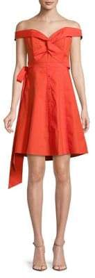 ASTR the Label Off-The-Shoulder Fit-and-Flare Dress