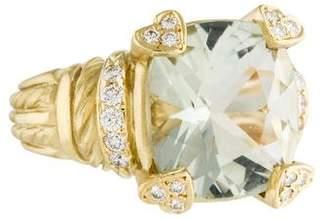 Judith Ripka Prasiolite & Diamond Ring