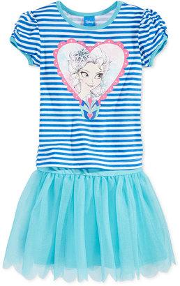 Disney's Frozen Little Girl's Elsa Heart 2-Piece Tutu Set $38 thestylecure.com