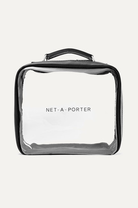Net-a-Porter Beauty - Vegan Faux Leather-trimmed Perspex Cosmetics Case - Black
