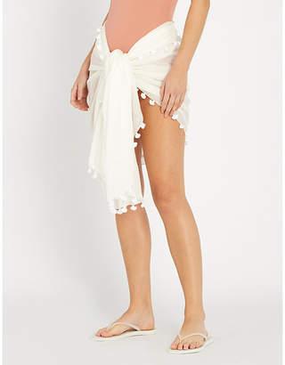 Melissa Odabash Pareo cotton and silk-blend sarong