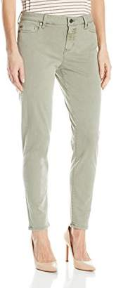 Liverpool Jeans Company Women's Devon Relaxed Ankle Skinny in Stretch Peached Twill