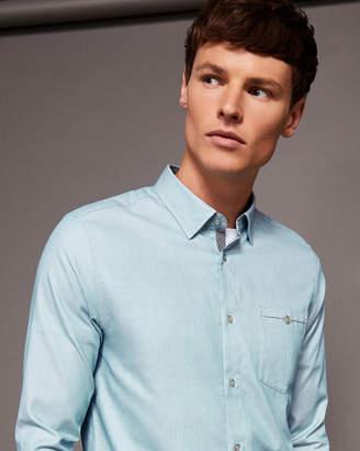 Ted Baker IFEL Semi plain cotton shirt