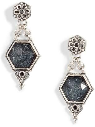 Konstantino Santorini Hematite Octogan Drop Earrings