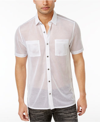 INC International Concepts Men's Mesh Shirt, Only at Macy's $49.50 thestylecure.com