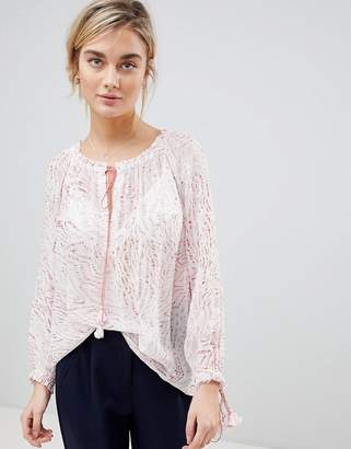 See U Soon Tunic Blouse with Drawstring Detail