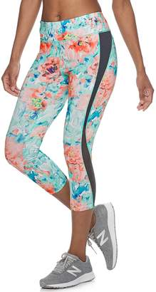 Tek Gear Women's Performance Curved Panel Midrise Capri Leggings