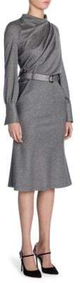 Giorgio Armani Pinstripe Wool Dress