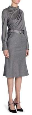 Giorgio Armani Pinstripe Wool Dress