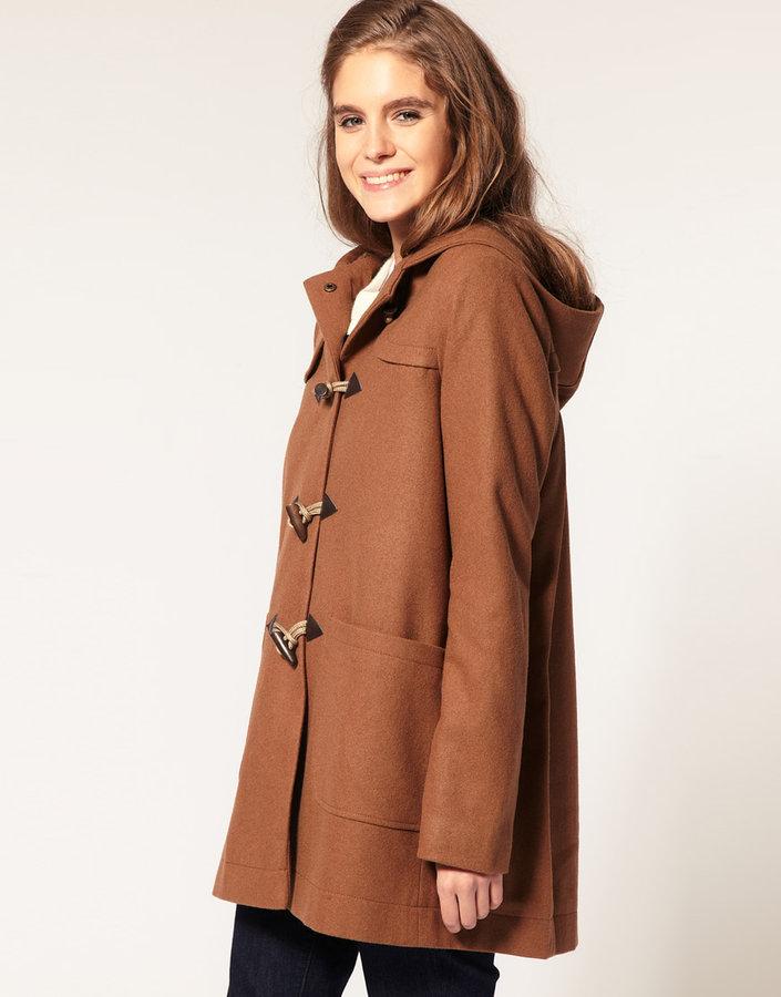 ASOS Duffle Coat With Hood