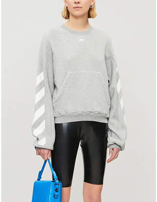 Off-White Logo-print cotton-blend sweatshirt