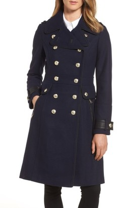 Women's Guess Wool Blend Military Coat $270 thestylecure.com