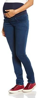 Ripe Maternity Women's Peggy Stretch Denim Maternity Jeans, Blue, (Size:X-Large)