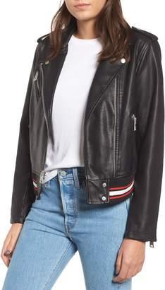 Levi's Rib Knit Faux Leather Moto Jacket