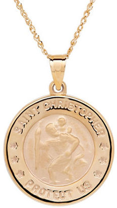 Lord & Taylor 14K Yellow-Gold Christopher Medallion Pendant Necklace $790 thestylecure.com
