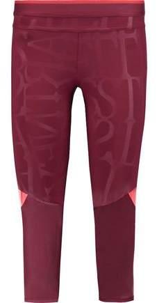 Run 3/4 Printed Stretch-Jersey Leggings