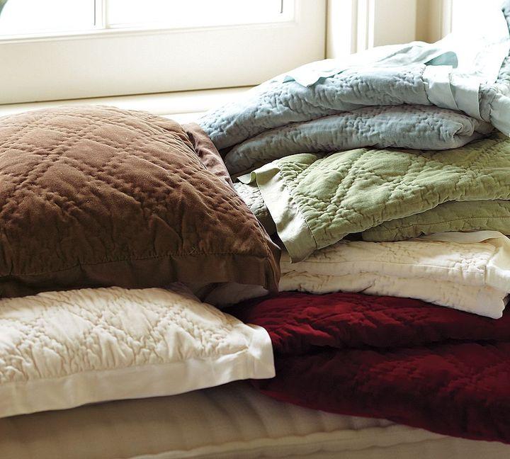 Washed Velvet Silk Quilt & Sham