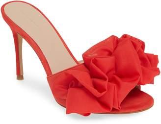 Something Navy Ruffle Dress Slide Sandal