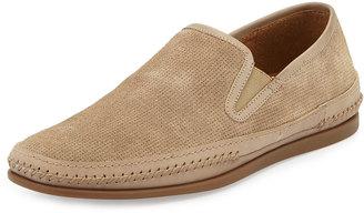 John Varvatos Star Side Gore Slip-On Sneaker, Desert Sand $159 thestylecure.com