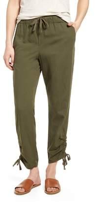 Caslon Side Ruched Crop Pants