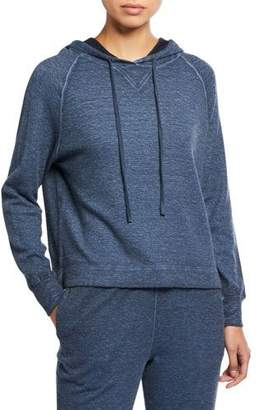 Neiman Marcus Majestic Paris for Long-Sleeve Cotton/Cashmere Pullover Hoodie