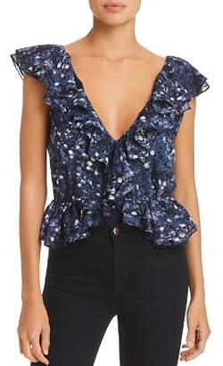 Bardot Emily Ruffled Floral Print Bodysuit