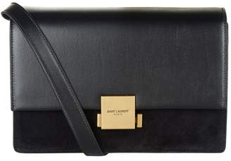 Saint Laurent Bellechasse Suede Panel Satchel