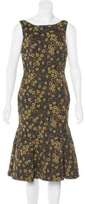Rochas Floral Brocade Dress w/ Tags
