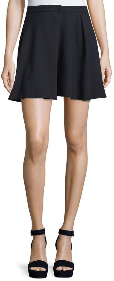 See By Chloe High-Waist A-Line Mini Skirt, Dark Night