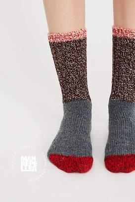 Woolrich Merino Color Block Crew Sock