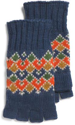 Wool Fine Gauge Half Finger Gloves
