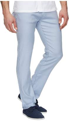 34 Heritage Courage Straight Fit in Light Blue Linen Men's Jeans