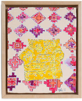 Kate Lewis Art Kate Lewis - Yellow Chair with Pattern Art