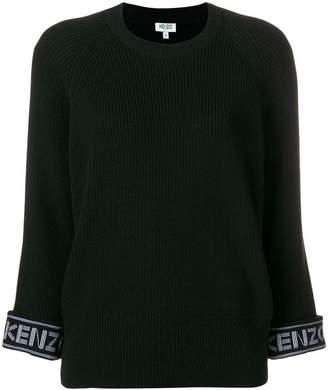 Kenzo ribbed logo cuff sweater