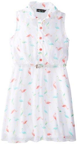Ruby Rox Big Girls' Belted Shirt Dress