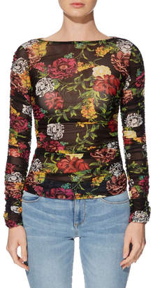 GUESS Long Sleeve Camilla Ruched Top