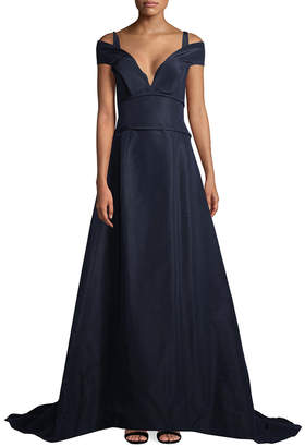 Carolina Herrera Over The Shoulder Long Gown