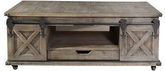 Stylecraft Generic Presley Two Door with Drawer Coffee Table - Driftwood Grey
