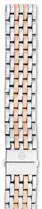Michele Deco Two-Tone Stainless Steel & Rose Gold 7-Link Watch Bracelet, 18mm