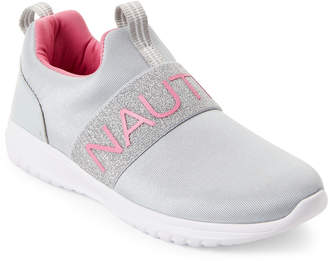Nautica Kids Girls) Grey Canvey Mesh Sneakers