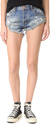 One Teaspoon Blue Buoy Bandit Shorts $99 thestylecure.com