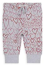 Stella McCartney Infants' Heart-Print Cotton Sweatpants-Gray